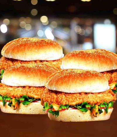 4 Burgers for $21.99